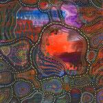 「Dreamtime」-2014  B4(364x257mm) / 紙・アクリルガッシュ・ポスターカラーマーカー・カラーペン