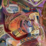 「Untitled」-2016  B3(365x515mm) / キャンバス・アクリルガッシュ・ポスターカラーマーカー・カラーペン