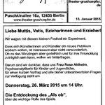 Diskussionsrunde Grashüpfertheater, Berlin, 26/3/2015