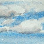 """""""Wolke 4"""" Aquarell 29,5/21cm"""
