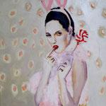 Bunnystyle   Acryl/Kohle auf Malgrund   50 x 50 cm      2015