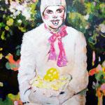The Treasure  Acryl/Kohle auf Malgrund   118 x 81 cm    2015