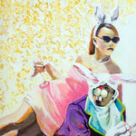 Enjoy life  Acryl/Kohle auf Malgrund   118 x 81 cm    2015