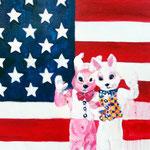 Hello and goodby  Acryl/Kohle auf Malgrund  118 x 81 cm   2015