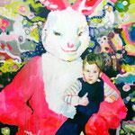 Lucky one   Acryl/Kohle auf Malgrund    150 x 120 cm     2015