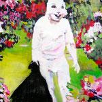 Happy easter   Acryl/Kohle auf Malgrund   118 x 81 cm    2015