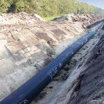 Erdöl-, Erdgas- und Wasserleitungen