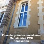 Pose menuiseries PVC en Gironde