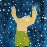 Schnee,  Mischtechnik auf Nessel, 30 cm x 20 cm, 222 €