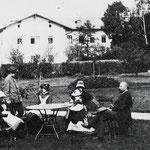 Park am Herrenhaus 1893 -  erkennbar alte Gehölzstrukturen
