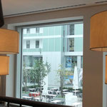 Blick vom neuen Cafe Cord in den Innenhof