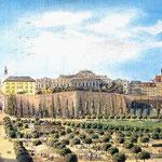 Historische Darstellung vor Schleifung der Stadtmauer