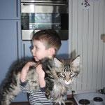 Edvard mit Kumpel Anton