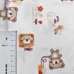 Muster in orange und rostbraun auf weiß