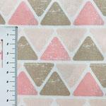 Dreiecke in braun- und rose-Tönen