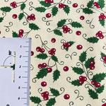 Weihnachtsmuster in rot und grün auf beige