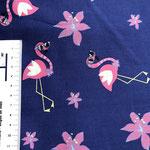 rosa Flamingos auf dunkelblau