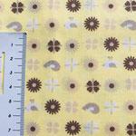 Muster in braun auf gelb