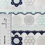 Mandala Muster in mint, hellgrau und dunkelblau