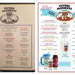 Drink Menu redesign for Fogarty's Flying Monkey Saloon; Key West, FL, 2014