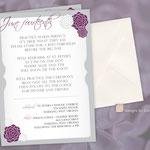 "Design #10: Floral Rehearsal Dinner Invitation, 5""x7"" on linen card stock"