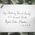 Custom hand-written calligraphy for envelopes and more