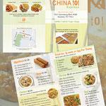 menu design for China 101 Express; Houston, TX, 2013