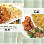 menu board design for China 101 Express; Houston, TX, 2013