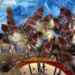 """""""Äther der Zeit""""     2014     digitale Komposition aus 3D-Werk und Fotografie"""
