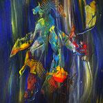 """""""Farbwedler""""     2014     60cm x 80cm, Acryl auf Leinwand, gespachtelt"""