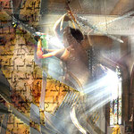 """Ritter des Lichts""     2014     digitale Komposition aus Fotografien"