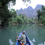 Khammouan: Eingang zur Tham Kong Lor Cave