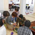 2013.5月 大野台サポートセンター 棒針ふさふさマフラー講習