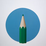 Circulo azul. Óleo/ lienzo ( 81 x 81 cm ) 2017