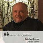 Eric VANDEVELDE - Chef, disciple d'Escoffier