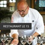 Restaurant Le 15 - Le Chef Sébastien Kluber prépare une cuisine chic mais décomplexée, dicté par sa créativité.