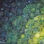 《緑の中へ》透明水彩・アルビレオ 2005年