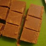 Caramels mous coupés, mangés et emballés...