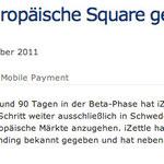 iZettle – das europäische Square geht in den Echt-Betrieb