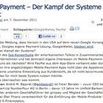 Mobile Payment – Der Kampf der Systeme beginnt