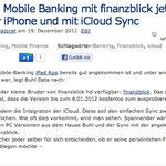 Update: Mobile Banking mit finanzblick jetzt auch für iPhone und mit iCloud Sync