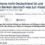 Warum Kenia nicht Deutschland ist