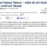 Das neue Galaxy Nexus – wäre es ein Auto, es wäre wohl ein Skoda