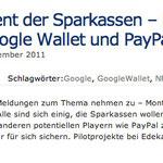 'Mobile' Payment der Sparkassen – keine Chance für Google Wallet und PayPal?