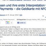 Sparkassen und ihre erste Interpretation von mobile Payments – die Geldkarte mit NFC Chip