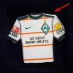 2009/10 Auswärts-Trikot mit Bundesliga-Logo (Besonderheit: dunkle Schultern)