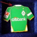 2007/08 Heim-Trikot mit Bundesliga-Logo (Besonderheit: der grüne Kragen)