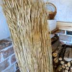 フィンランドの作家さんのお宅にて。綺麗な麦わらです。