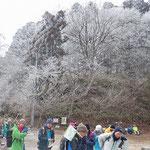 山頂広場の樹氷