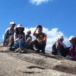 観音岩に登りました